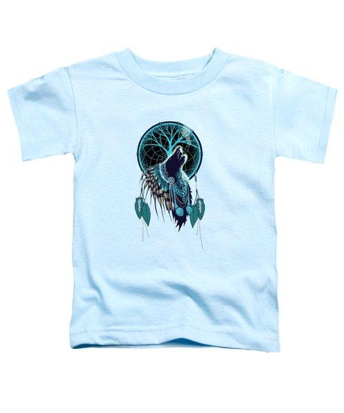Wolf Indian Shaman Toddler T-Shirt