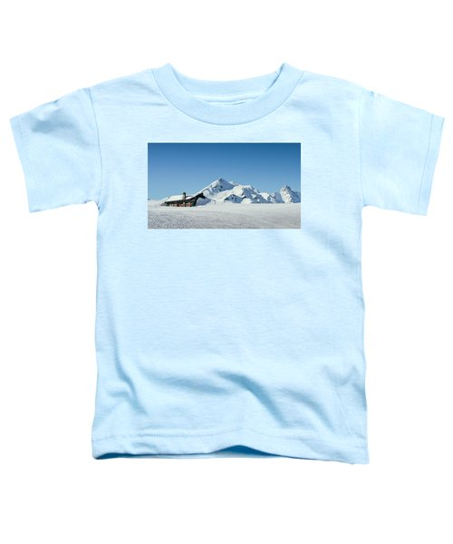 Wooden Alpine Cabin  Toddler T-Shirt