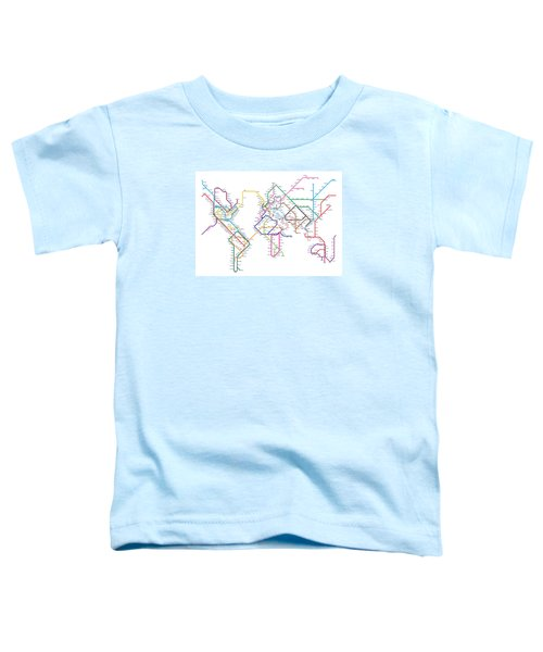 World Metro Tube Map Toddler T-Shirt