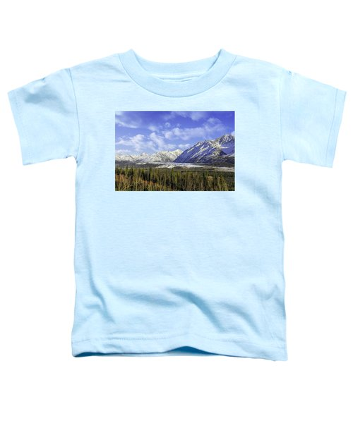 Wrangell Mountains Glacier Alaska Toddler T-Shirt