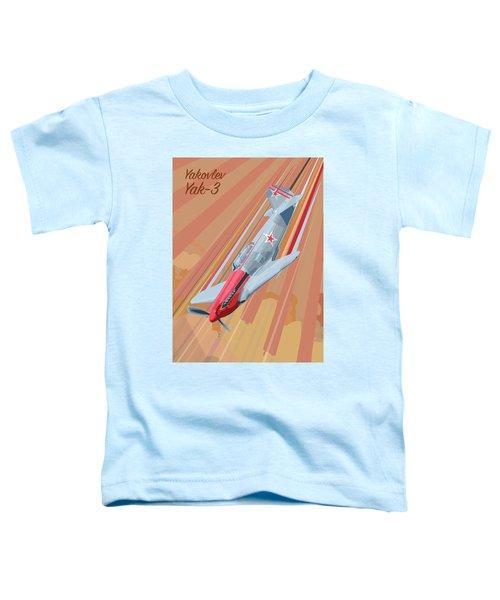 Yakovlev Yak-3 Pop Art Toddler T-Shirt