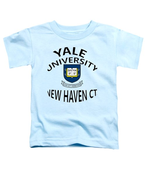 Yale University New Haven Connecticut  Toddler T-Shirt by Movie Poster Prints