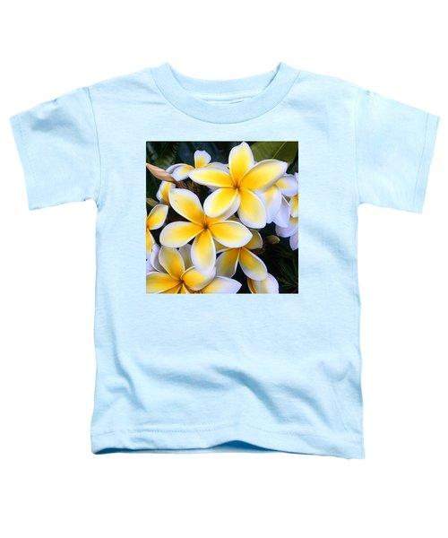 Yellow And White Plumeria Toddler T-Shirt