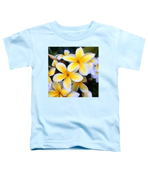 Yellow And White Plumeria Toddler T-Shirt