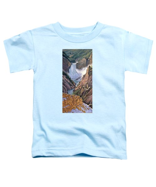 Yellowstone Canyon-osprey Toddler T-Shirt by Paul Krapf