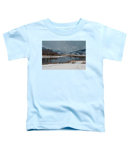 Yellowstone River In Light Snow Toddler T-Shirt