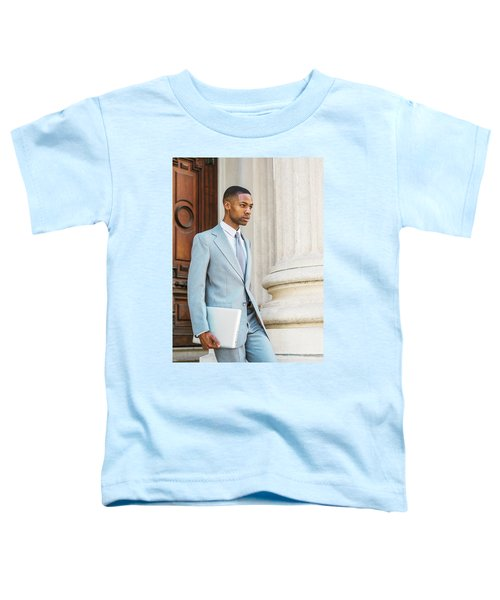 Young African American Businessman Working In New York Toddler T-Shirt