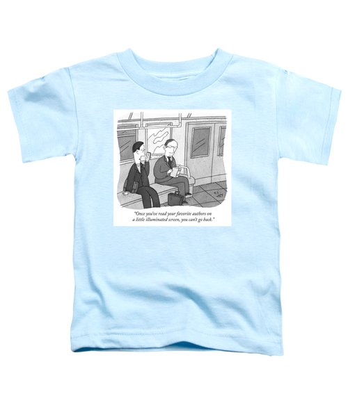 Your Favorite Authors On A Little Illuminated Screen Toddler T-Shirt