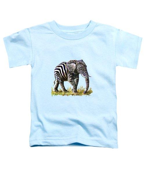 Zebraphant Toddler T-Shirt by Anthony Mwangi