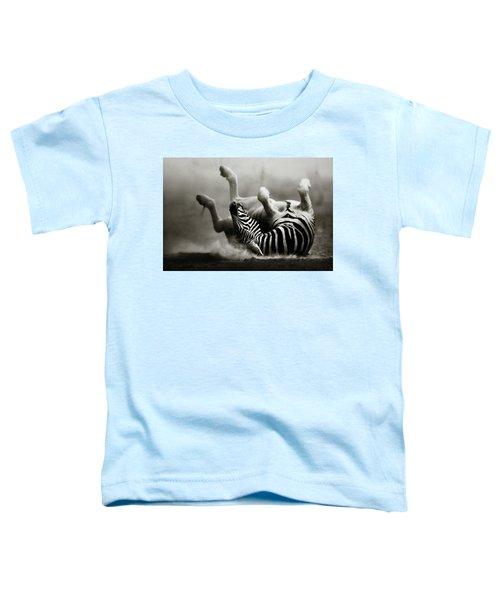 Zebra Rolling Toddler T-Shirt