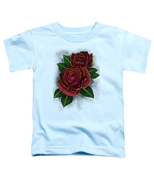 Zentangle Tattoo Rose Colored Toddler T-Shirt