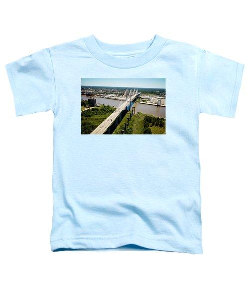 Aerial View Of Talmadge Bridge Toddler T-Shirt