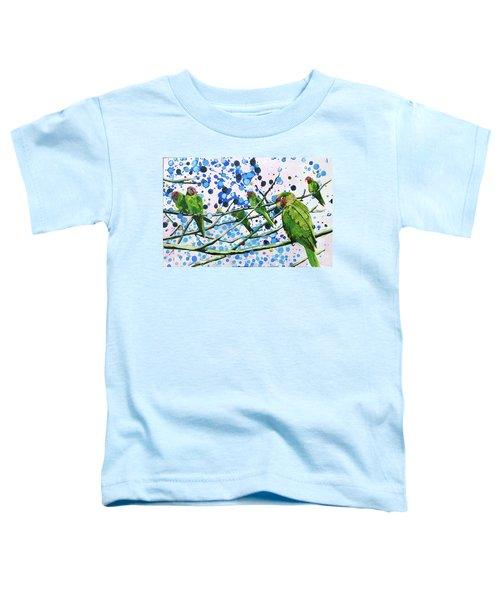 Blue Dot Parakeets Toddler T-Shirt