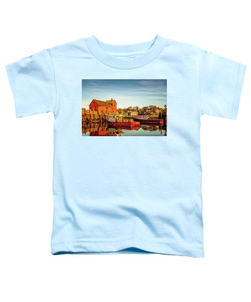 Low Tide And Lobster Boats At Motif #1 Toddler T-Shirt