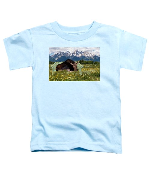 Nap Time In The Tetons Toddler T-Shirt