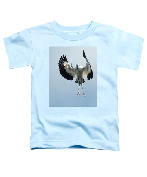 Toddler T-Shirt featuring the photograph Woodstork Nesting by Donald Brown