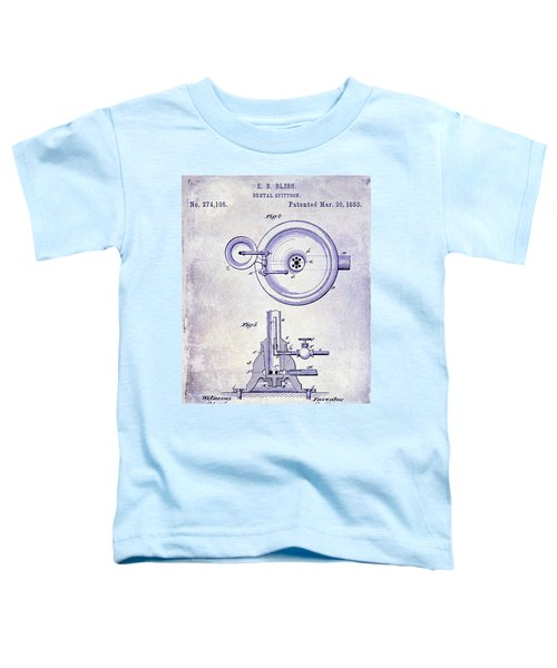 1883 Dental Spittoon Patent Blueprint Toddler T-Shirt