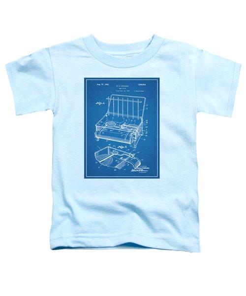 1924 Coleman Camp Stove Blueprint Patent Print Toddler T-Shirt