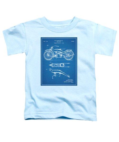1924 Harley Davidson Motorcycle Patent Print Blueprint Toddler T-Shirt