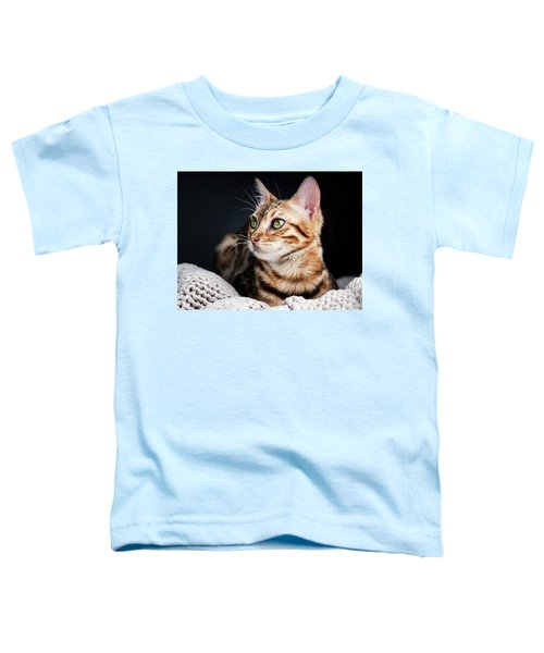 Bengal Cat Portrait Toddler T-Shirt