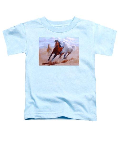 Adventurous Horses Toddler T-Shirt