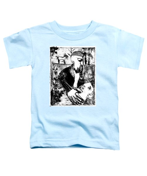 After Childish Edgeworth Black And White Print 26 Toddler T-Shirt