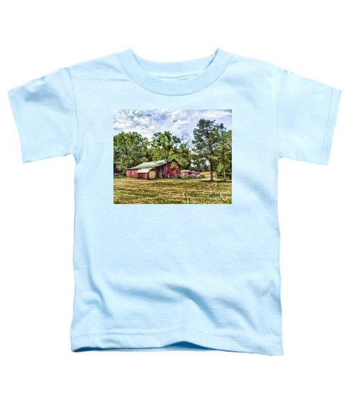 Along The Rural Road Old Barn In Tennessee Toddler T-Shirt