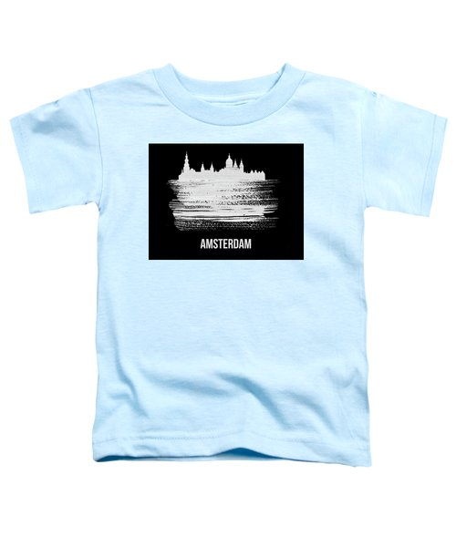 Amsterdam Skyline Brush Stroke White Toddler T-Shirt