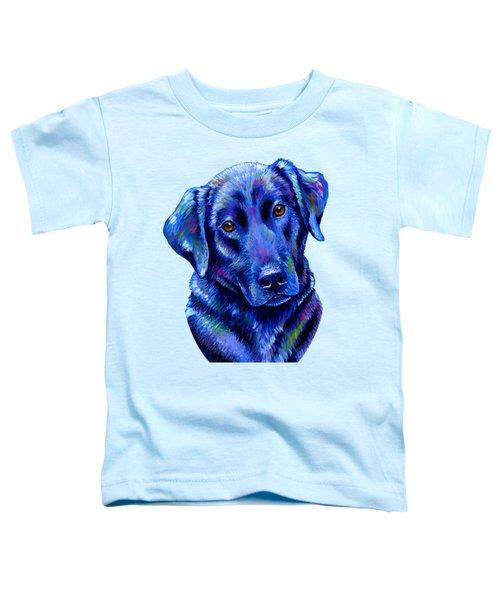 Colorful Black Labrador Retriever Dog Toddler T-Shirt