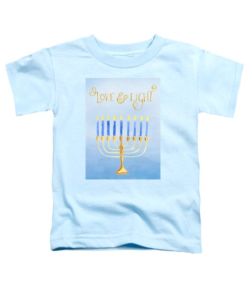 Love And Light For Hanukkah Toddler T-Shirt