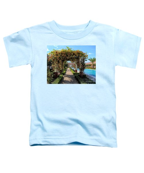Awesome Getty Villa Landscape Walkway Pool California  Toddler T-Shirt