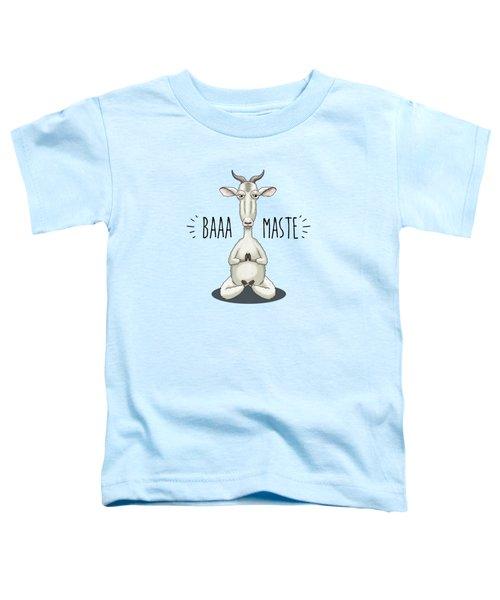 Baaa-maste - Namaste Meditating Goat Toddler T-Shirt