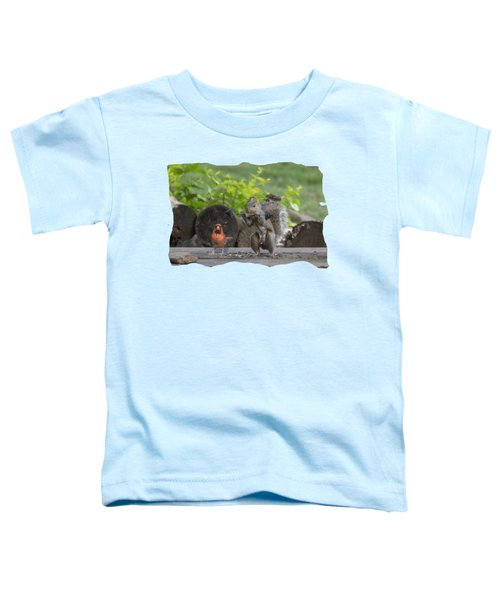 Backyard Squirrel Working Out With Trainer Toddler T-Shirt