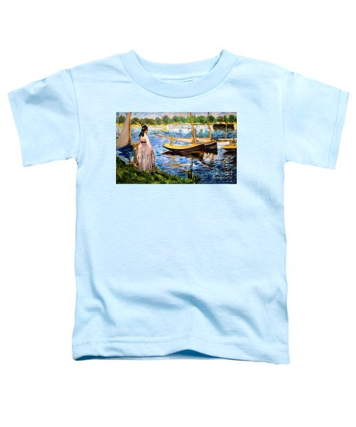 Banks Of The Seine At Argenteuil Toddler T-Shirt