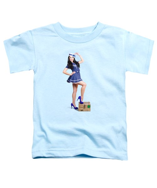 Beautiful Vintage Navy Woman. Retro Pinups Toddler T-Shirt