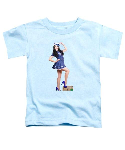 Beautiful Vintage Navy Woman. Retro Pinups Toddler T-Shirt