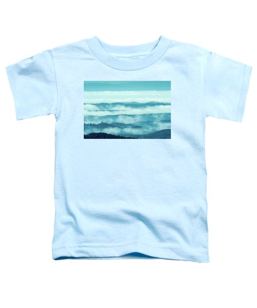 Blue Ridge Mountains Layers Upon Layers In Fog Toddler T-Shirt