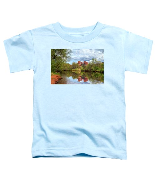 Cathedral Rock Reflection Toddler T-Shirt