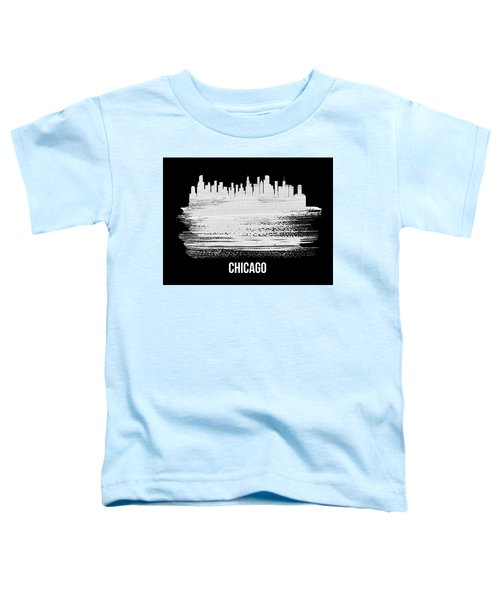 Chicago Skyline Brush Stroke White Toddler T-Shirt