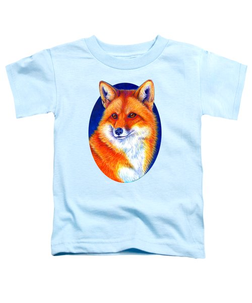 Colorful Red Fox Toddler T-Shirt