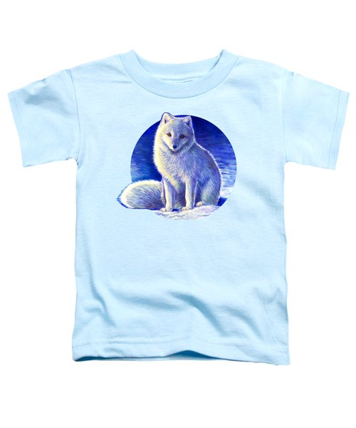 Colorful Winter Arctic Fox Toddler T-Shirt