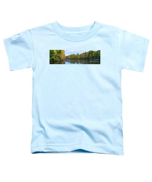 Davidson's Mill Pond Autumn Panorama  Toddler T-Shirt