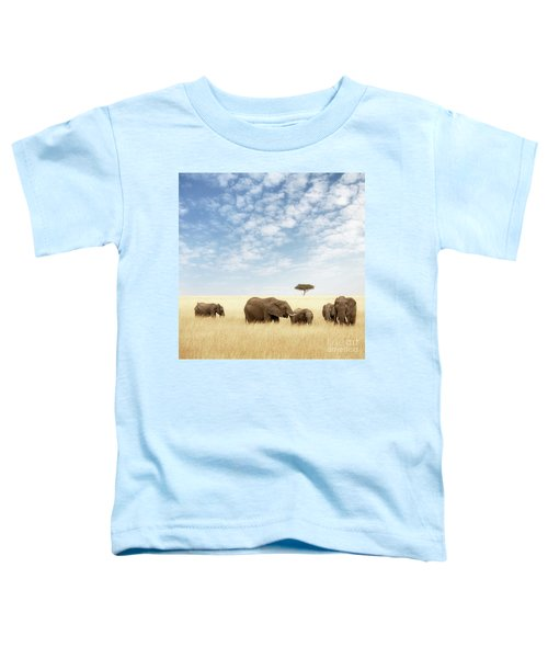 Elephant Group In The Grassland Of The Masai Mara Toddler T-Shirt