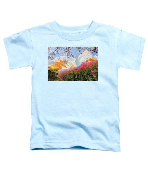 Field Of Glory Torn Paper Landscape Collage Toddler T-Shirt