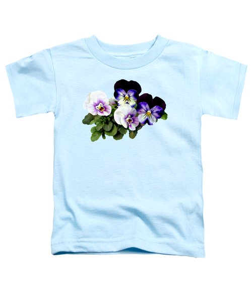 Four Pansies Toddler T-Shirt