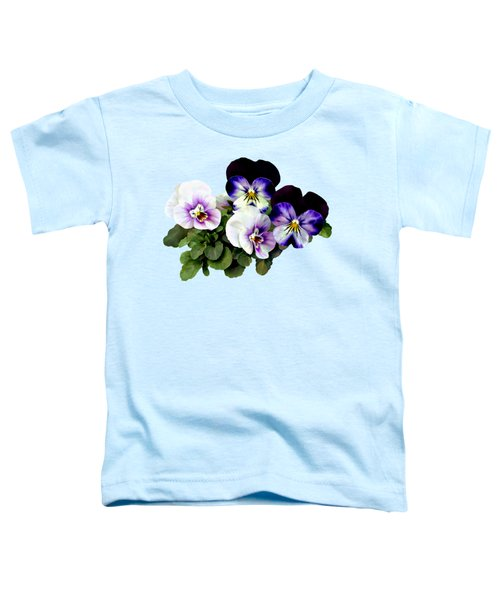 Four Pansies Toddler T-Shirt