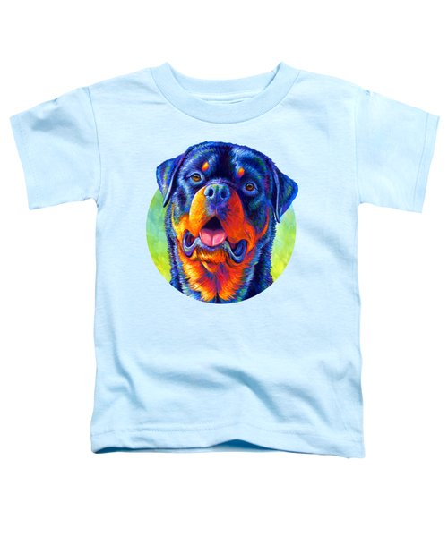 Gentle Guardian Colorful Rottweiler Dog Toddler T-Shirt