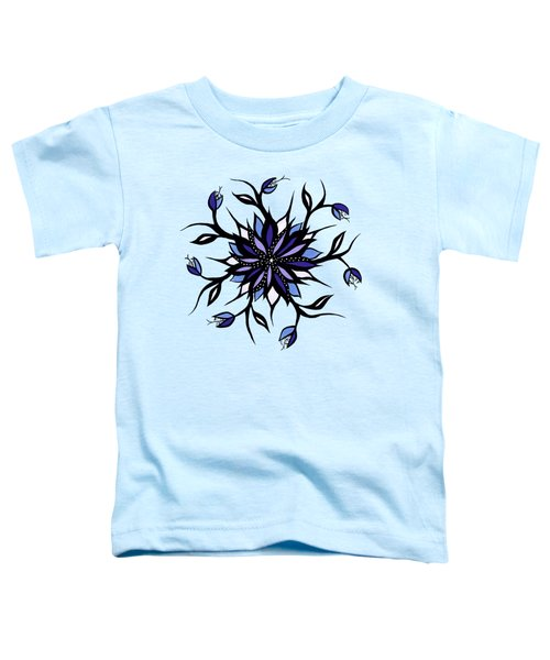 Gothic Floral Mandala Monsters And Teeth Toddler T-Shirt