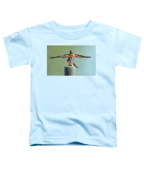 Hey, Babe, Let's Rock N Roll.  Barn Swallows Toddler T-Shirt