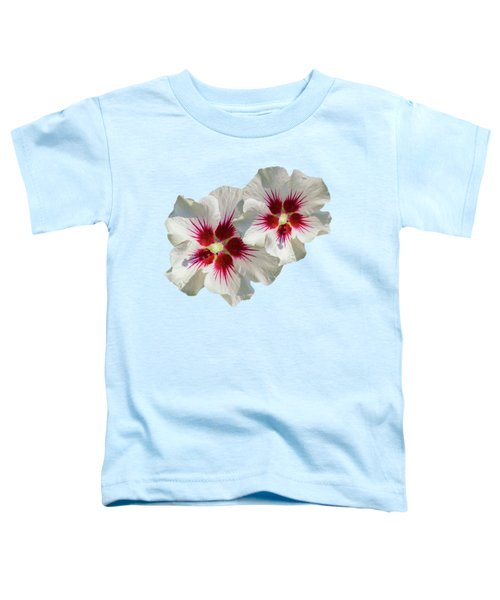 Hibiscus Flower Pattern Toddler T-Shirt
